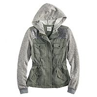 Girls 7-16 & Plus Size Mudd® Sequin Yoke Utility Jacket
