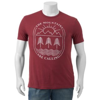 """Big & Tall SONOMA Goods for Life™ """"The Mountains Are Calling"""" Tee"""