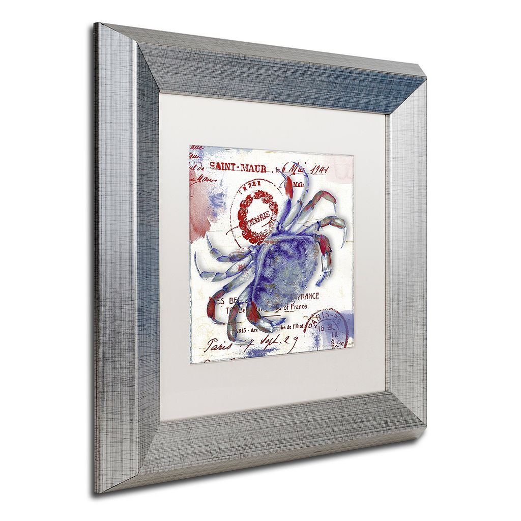 Trademark Fine Art Oceania I Silver Finish Framed Wall Art