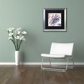 Trademark Fine Art Oceania I Silver Finish Framed Wall Art