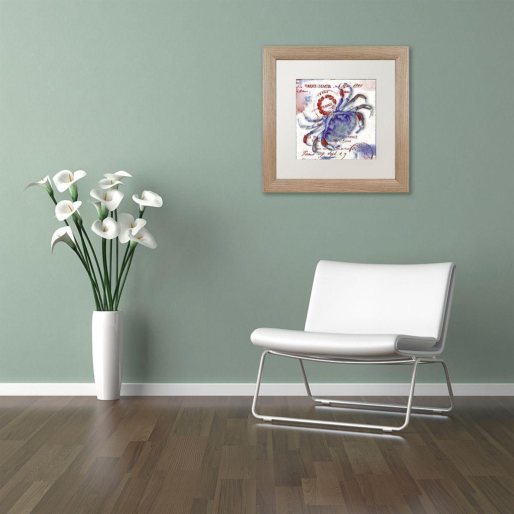 Trademark Fine Art Oceania I Distressed Framed Wall Art