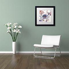 Trademark Fine Art Oceania II Black Framed Wall Art