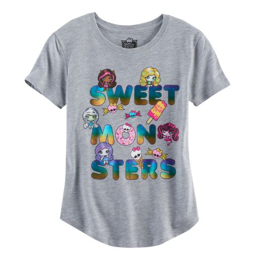 """Girls 7-16 Monster High """"Sweet Monsters"""" Graphic Tee"""