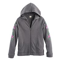 Girls 7-16 Mudd® Zip-Up Embellished Hoodie