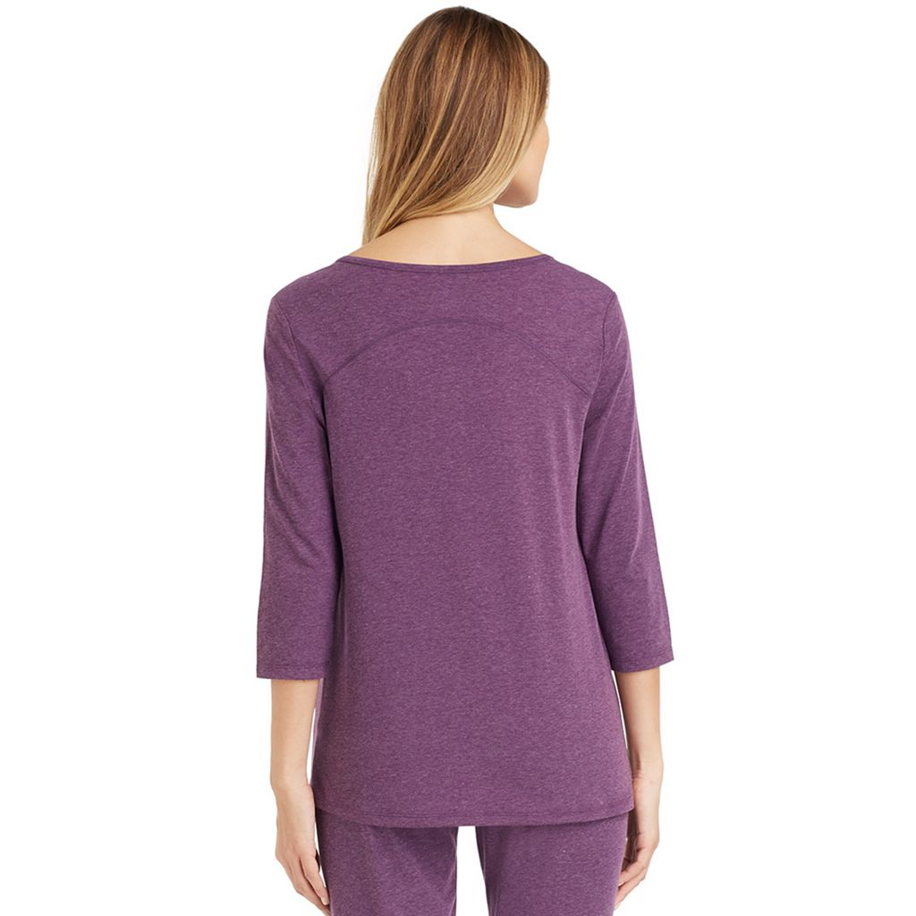 Women's Cuddl Duds Pajamas: Essential Henley Top
