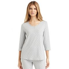 Women's Cuddl Duds Pajamas: Essential Henley Top