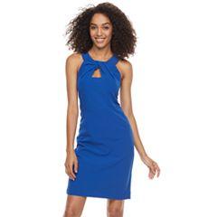 Women's Sharagano Twist-Front Sheath Dress