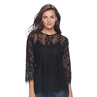 Women's Apt. 9® Floral Lace Top