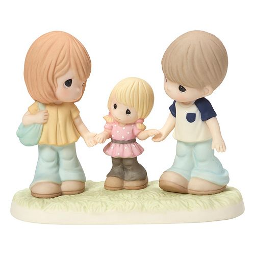 Precious Moments Family Is A Gift That Lasts Forever Parents & Girl Figurine