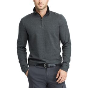 Men's Chaps Classic-Fit Herringbone Quarter-Zip Pullover