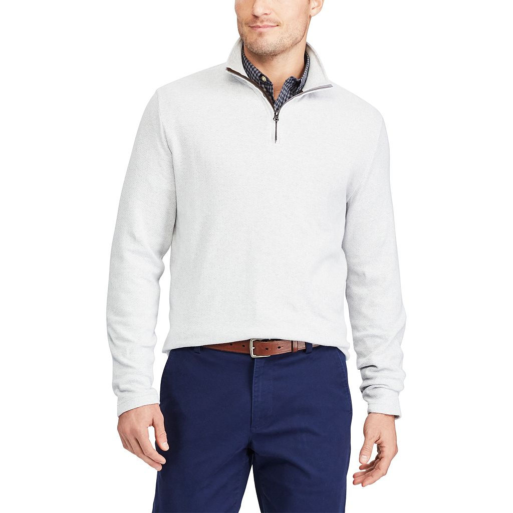 Men's Chaps Classic-Fit Herringbone Quarter-Zip Pullover