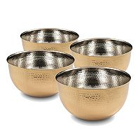 Cambridge 4-pc. Hammered Gold 5.5-in. Mixing Bowl Set