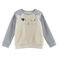 Toddler Girl Jumping Beans® Animal Plush Pullover