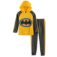 Boys 4-7 DC Comics Batman Lattice Mesh Logo Hoodie & Pants Set