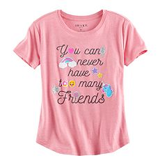 Girls Plus Size 'You Can Never Have Too Many Friends' Graphic Tee