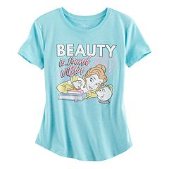 Disney's Beauty and the Beast Belle Girls Plus Size 'Beauty is Found Within' Graphic Tee