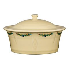 Fiesta Christmas Tree Covered Casserole Dish