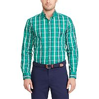 Men's Chaps Classic-Fit Patterned Stretch Easy Care Button-Down Shirt