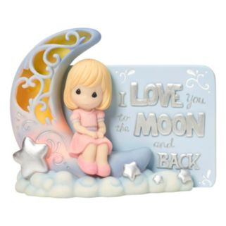 """Precious Moments """"I Love You To The Moon"""" Light-Up Girl Figurine"""