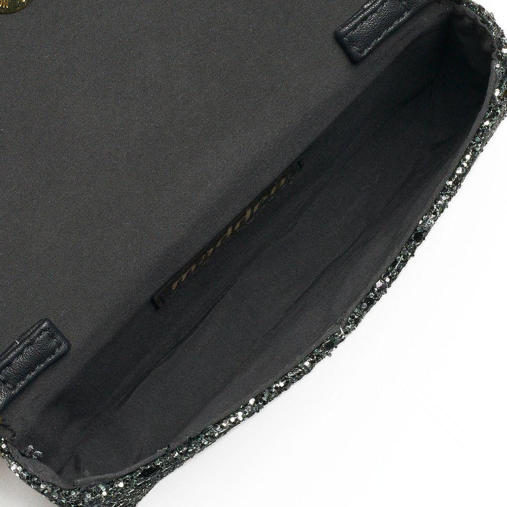madden NYC Joey Glitter Convertible Crossbody Bag