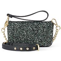 madden NYC Joey Glitter Convertible Crossbody Bag
