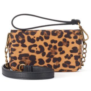 madden NYC Joey Leopard Print Convertible Crossbody Bag