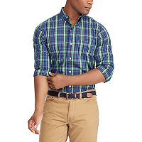 Men's Chaps Classic-Fit Patterned Easy-Care Stretch Button-Down Shirt