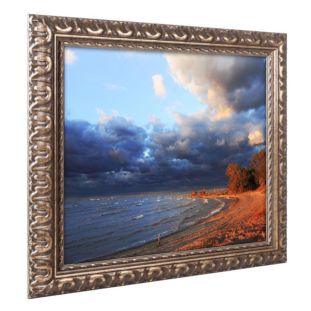 Trademark Fine Art Lake Erie Autumn Ornate Framed Wall Art