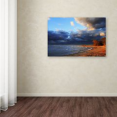 Trademark Fine Art Lake Erie Autumn Canvas Wall Art