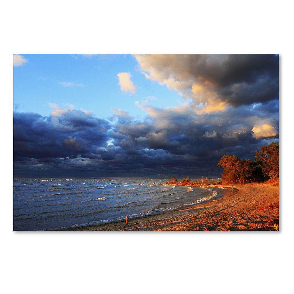 Trademark Fine Art Lake Erie Autumn Canvas Wall Art