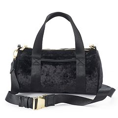 madden NYC Jackie Velvet Mini Barrel Duffel Bag