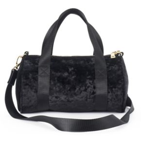 madden NYC Jackie Velvet Mini Barrel Duffel Bag