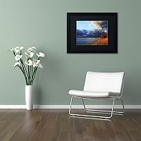 Trademark Fine Art Lake Erie Autumn Black Framed Wall Art
