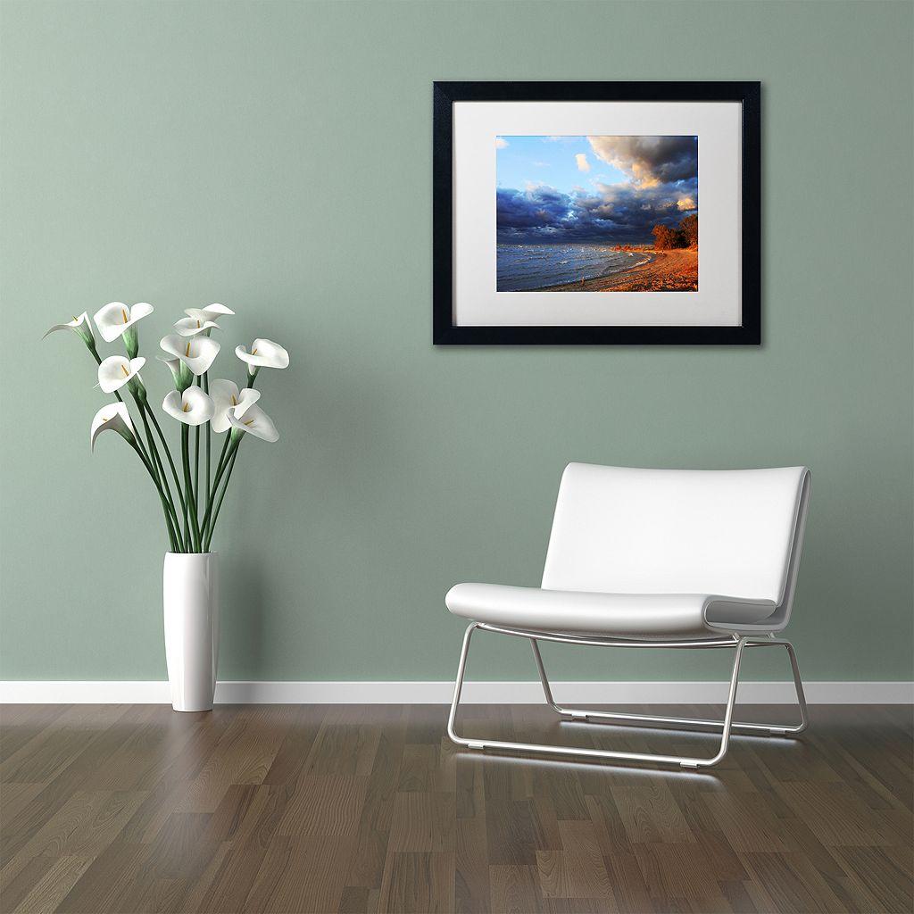 Trademark Fine Art Lake Erie Autumn Black Framed Wall Art