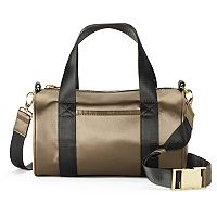 madden NYC Jackie Satin Barrel Duffel Bag