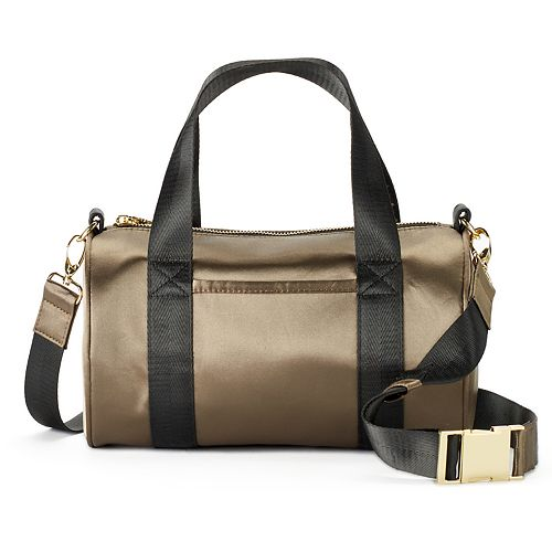 madden NYC Jackie Satin Barrel Duffel Bag