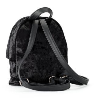madden NYC James Crushed Velvet Mini Backpack