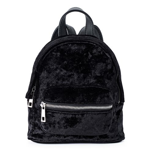 madden NYC James Crushed Velvet Mini Backpack