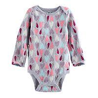 Baby Girl Jumping Beans® Glitter Patterned Slubbed Bodysuit