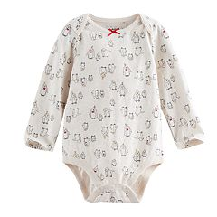 Baby Girl Jumping Beans® Glitter Patterned Slubbed Bodysuit