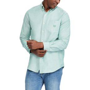 Men's Chaps Classic-Fit Solid Oxford Stretch Button-Down Shirt