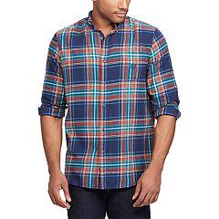 Men's Chaps Regular-Fit Plaid Flannel Performance Button-Down Shirt