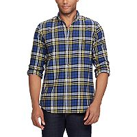 Men's Chaps Regular-Fit Plaid Flannel Performance Button-Down Shirt