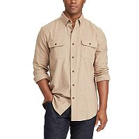 Men's Chaps Classic-Fit Herringbone Button-Down Work Shirt