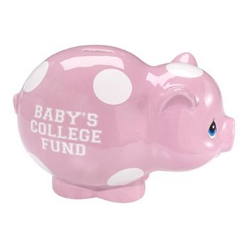 Precious Moments Quot Baby S College Fund Quot Pink Piggy Bank