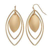 Marquise Hoop Nickel Free Orbital Drop Earrings