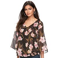 Women's Jennifer Lopez Metallic Floral Top