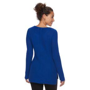 Women's Dana Buchman Mixed-Stitch Textured Sweater