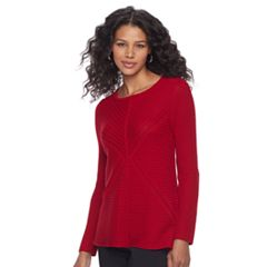 Women's Dana Buchman Mixed-Stitch Textured Sweater