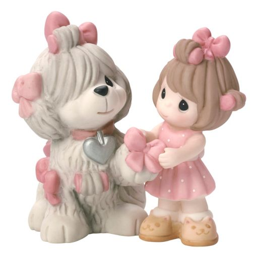 Precious Moments Love Is Patient Dog & Girl Figurine